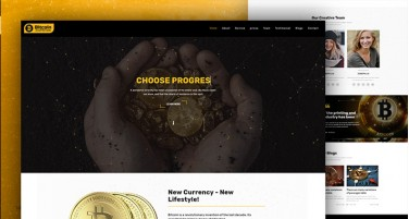 Bitcoin - Crypto Currency Responsive Bootstrap Template